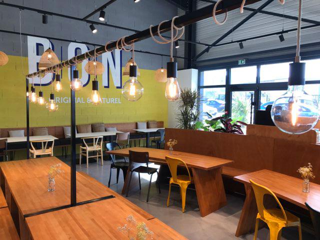 intérieur restaurant bio BON Guérande