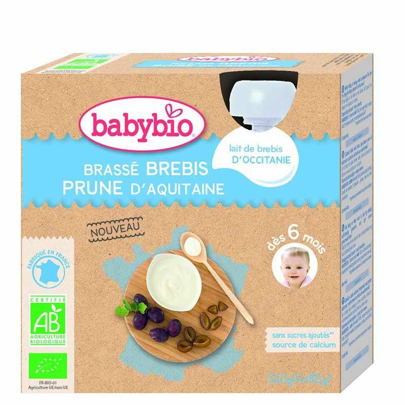 Pots pour bébés au brebis et aux prunes