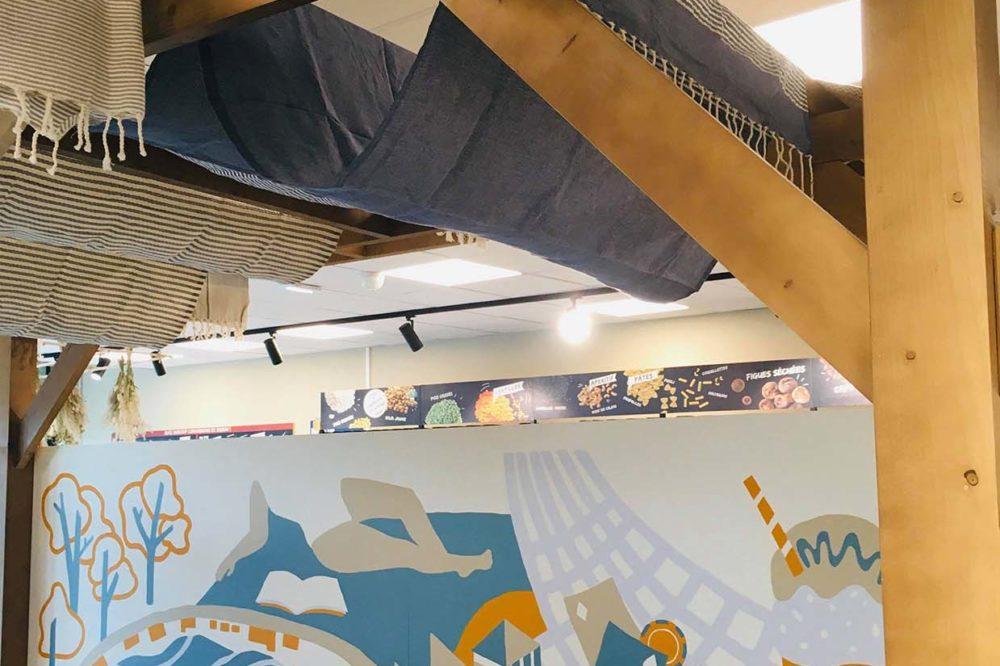 Fresque murale Les Hameaux Bio Biocoop copie