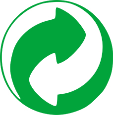 Pictogramme recyclage point vert